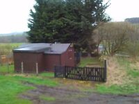 Solid wooden Holiday chalet for sale in scottish borders.