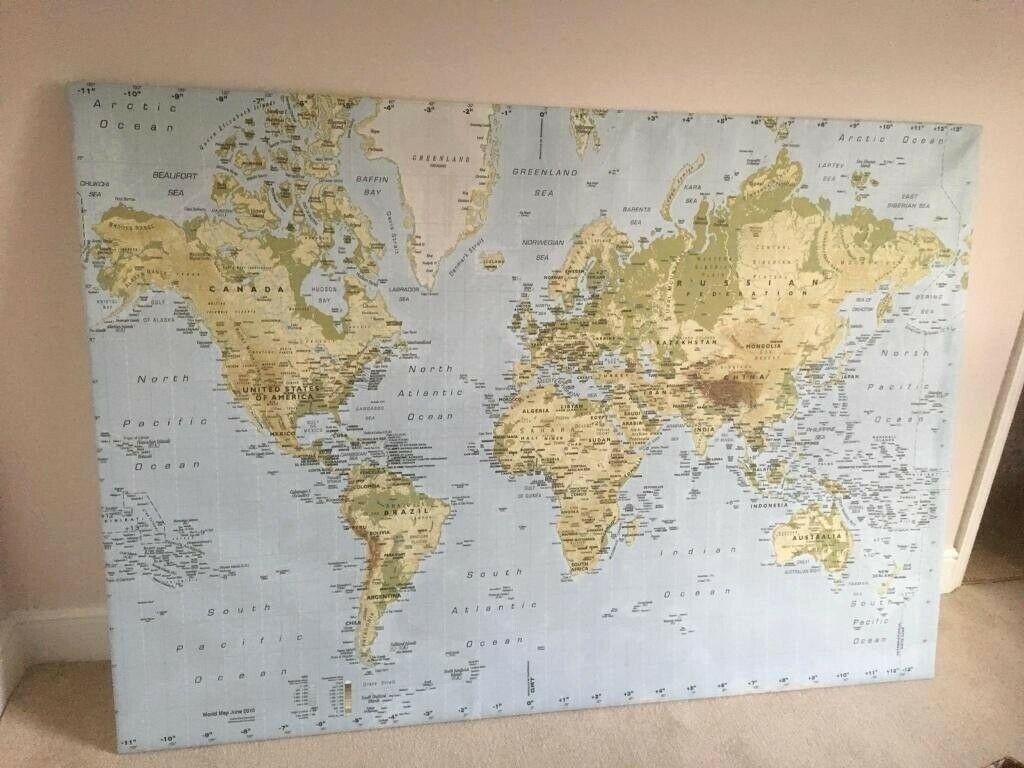 *RARE* IKEA PREMIAR large wall world map | in South East London ...