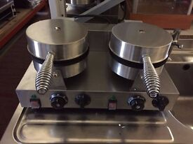 DOUBLE ROUND WAFFLE BAKER GRILL EU112