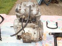 HONDA CB 250G5 RUNNING ENGINE.
