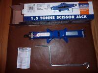 Draper 1.5 tonne Scissor Jack NEW UNUSED BOXED