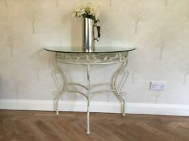 Glass Shabby Chic Vintage Style Console Table