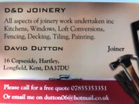 All aspects of joinery work undertaken including Fencing, Decking, Windows, Doors, Tiling, Kitchens.