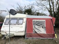 Abi jubilee equerry 2 berth caravan good condition with full awning1997