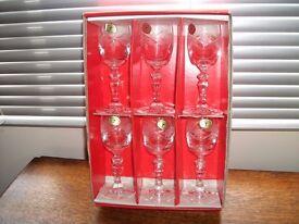Six Provoznik Czechoslovakia Cut Glass