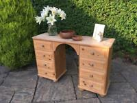 Solid PINE dressing table SIDEBOARD shabby chic bun feet SOLID
