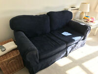 Navy Sofa, fits 3 people