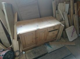 Pine unit draws / cupboard shabby chic project