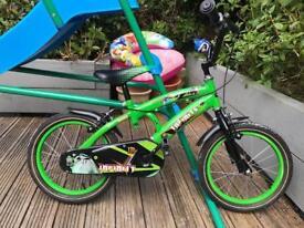 "Boys 16"" 'racing' theme bike"