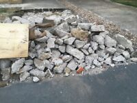 Free hardcore clean blocks of rubble ideal for paving slab foundation free free free hardcore