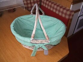 Shabby Chic Wicker Basket