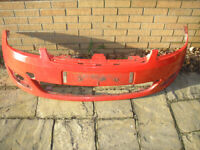 Ford Fiesta 1.25 Zetec Mk6 Front Face Lift Facelift Bumper RED from a 2006 car