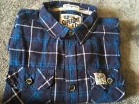 Superdry men's shirts long sleeves Size large uesd Very good condition Blue colour £8