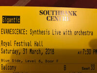 EVANESCENCE: Synthesis Live with Orchestra - Royal Festival Hall - London - 31 March 2018