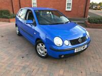 2002/02 VOLKSWAGEN POLO 1.2e 5 DOORS MOT OCT 2018