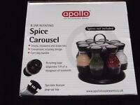 Rotating Spice Carousel (8 Jar) by Apollo NEW/BOXED.