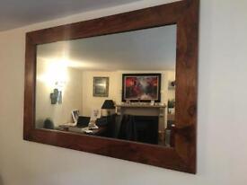 Solid Indian Sheesham Large Wood Mirror
