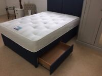 CASH ON DELIVERY OPTION -- BRAND NEW 4FT, 4FT6 DIVAN BASE DOUBLE BED, HEADBOARD, MATTRESS, DRAWERS