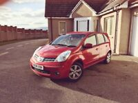 2008 Nissan Note Acenta R Red Manual Petrol