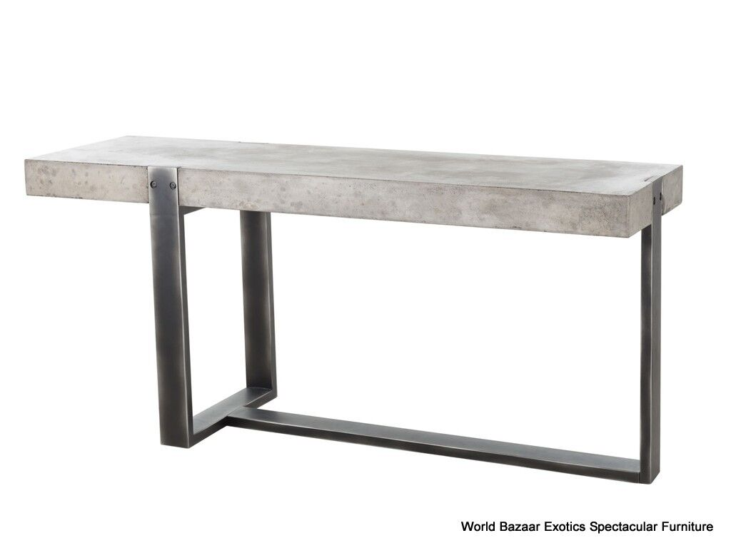 67 L Console Table Cement Solid Iron Concrete Sealed
