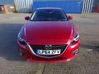 Mazda 3, 2.0 SKYACTIV manual 5dr petrol hatchback red, long MOT