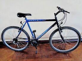 Gents Large Frame Size Mountain Bike 18 Speed Grip-Shift Gears 26 Inch Wheels