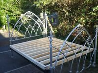 WROUGHT IRON GOTHIC DESIGNER KING SIZE BED