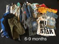 Boys clothes 6-24 months