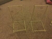 2 large picture/platee holders