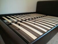 Good quality, sturdy bed + bedsite table and desk