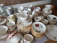 OFFERS accepted on vintage China Tea Sets Mismatch Perfect for Party/wedding themed 1950's 1960's