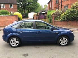 Blue Ford Focus Style 1.8 L - 57 Plate. 1 previous owner. 77k miles. Full service history.