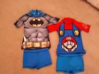 2 x 2 piece uv boys swim wear