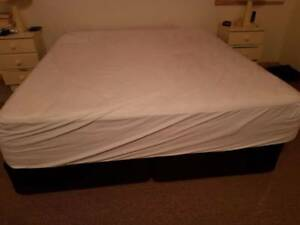 King Size Ergo-Shape Mattress and Base NEAR NEW