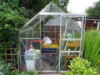 Greenhouse 6x6 with staging