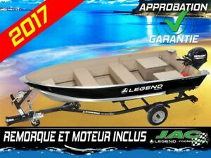 2017 Legend Boats Chaloupe 14 WideBody Mercury 9.9 bateau Pêche