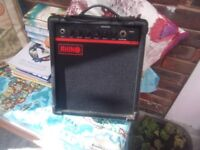 Small guitar Amp, RHINO RGA10 case in very good condition.