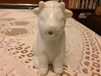 White Ceramic Cow shaped pouring Jug