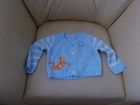 baby cardigan new tigger 3.50 age 6/9 months
