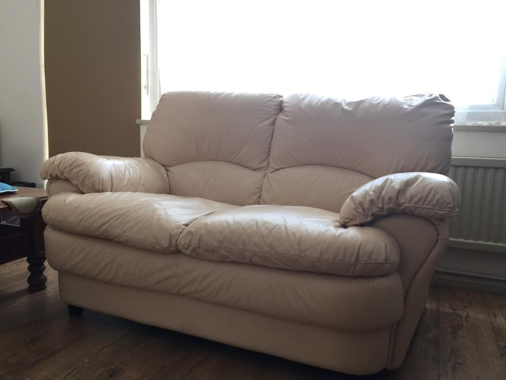 Cream Leather Sofa Suite 3 2 Amp 1 Seater In Northolt