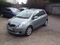 2007/07 TOYOTA YARIS 1.3 L ZINC 5 DR 56k FSH HPI CLEAR ONE OWNER FROM NEW