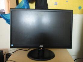 AOC Gaming Monitor 20-inch LED widescreen, VGA, 1920×1080 perfect working order