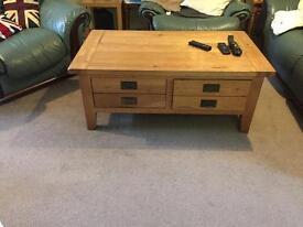 Solid oak lounge furniture set very very heavy