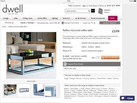Dwell mirrored coffee table