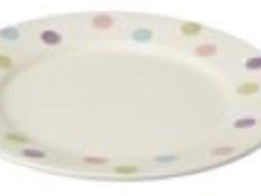 6 x Sorbet multi spot dinner plate Sainsbury\'s Hand Painted 27cm ...
