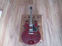 Gibson ESDT335 Dark Cherry Guitar.
