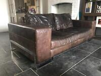 Large 3 seater leather sofa - Free on Collection