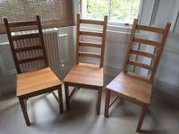 Ikea dining chairs X 3