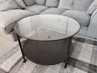 Coffee Table - black/glass - 75cm