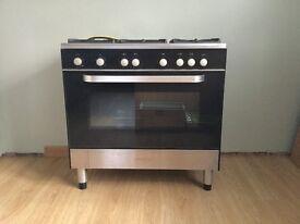 KENWOOD CK 305-1 Gas Range Cooker & 90cm Brand New Stainless Steel Splashback